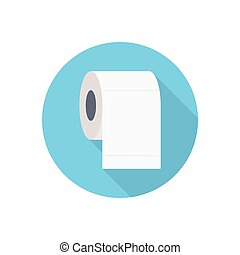 tissue  flat color icon