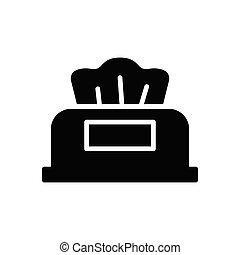 tissue glyph flat icon