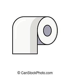 tissue line flat icon