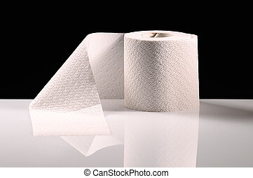 A new roll of tissue paper on desk