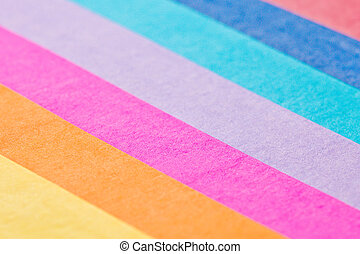 Colorful tissue paper pieces with a shallow depth of field