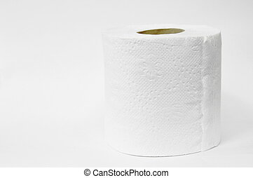 tissue paper roll on white background