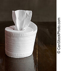 tissue roll on table