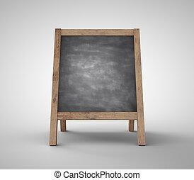tiszta, chalkboard