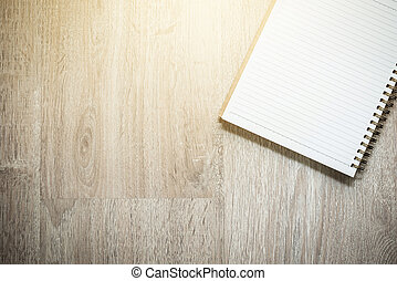 tiszta, jegyzetfüzet, képben látható, erdő, háttér