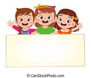 tiszta, transzparens, kicsi lány, boldog, csinos, kölyök