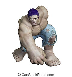 Titan - Image of a titan. The man is CG.