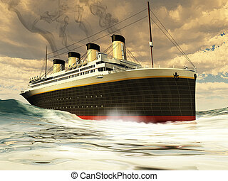 The great unsinkable ship of history before its tragic sinking on its maiden voyage.