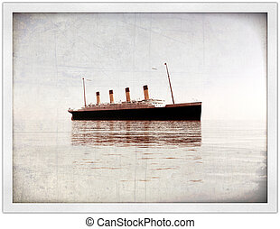 titanic in old picture