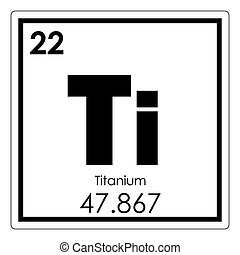 Titanium Chemical Element. Titanium Chemical Element Periodic Table Science  Symbol