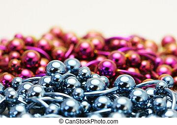 Titanium Navel Rings - A bulk pile of titanium anodized...