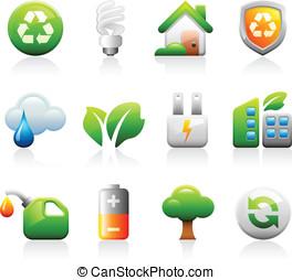 titaniun, verde, iconos