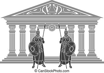 titans, atlantis, två, tempel