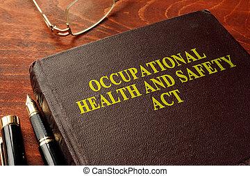 titel, sysselsättnings, hälsa och säkerhet, akt, ohsa, på,...