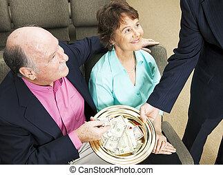tithing, 中に, 教会