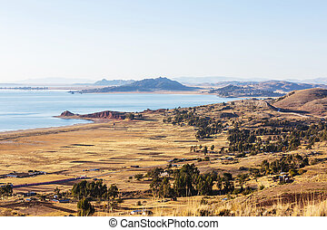 Titikaka lake in Peru, South America