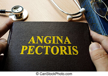 Title Angina pectoris on a book.