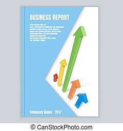 Title page business template with color arrows
