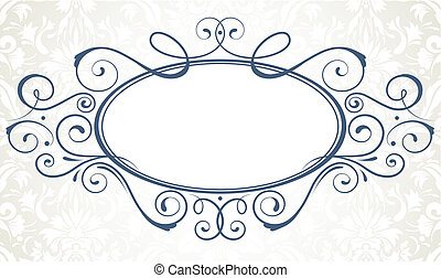 titling frame - illustration of ornamental original design...