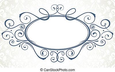 titling frame - Vector illustration of ornamental original...