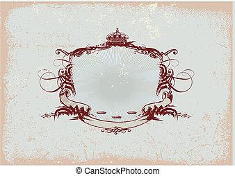 titling, heraldisch, frame