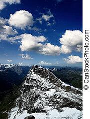 titlis snow covered mountain landscape near luzern...