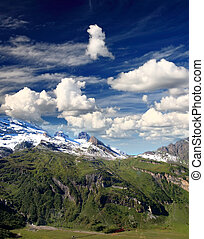 titlis snow covered mountain landscape near luzern...
