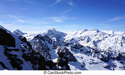 Titlis snow mountains in Engelberg, Lucerne, Switzerland