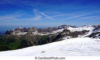 Titlis snow mountains landscape in Engelberg, Lucerne,...