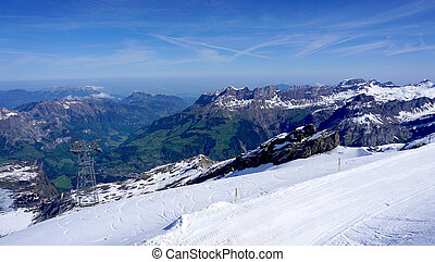 Titlis snow mountains Switzerland