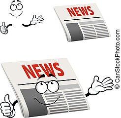 titolo giornale, carattere, notizie