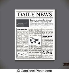 titolo, giornale, notizie quotidiane