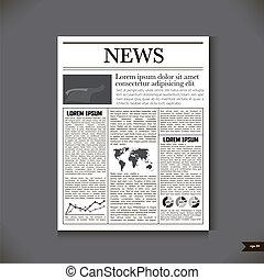 titolo, giornale, notizie