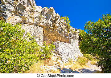 Tito's cave on Vis island, famous World War II natural...