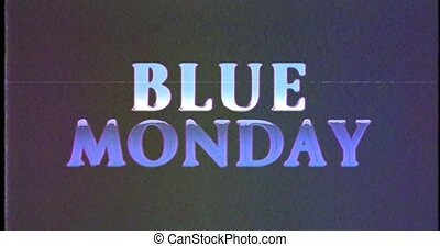 titre, bleu, flou, glitch, vhs, lundi