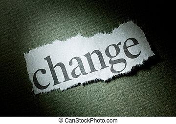 titre, changement
