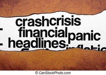 titre, financier, crise