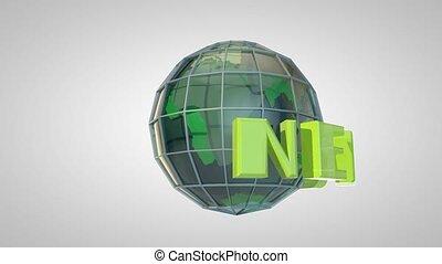 titre, globe, ouverture, émission, intro, nouvelles, la terre, animation