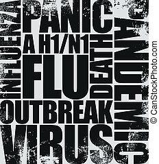 titre, grippe, porcs
