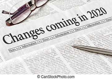 titre, venir, journal, 2020, changements