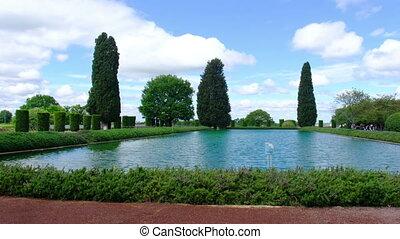 Tivoli Villa Adriana 4k Pecile pool horizontal panning on...