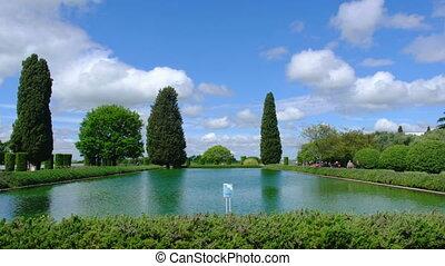 Tivoli Villa Adriana 4k Pecile pool vast pond .