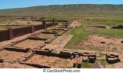 Tiwanaku Ruins, And Landscape, Al Paz, Bolivia - Medium high...