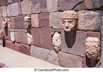Tiwanaku. Ruins in Bolivia, Pre-Columbian archaeological ...