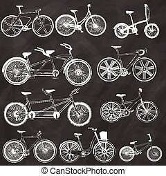 tiza, bicicleta