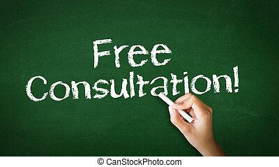 tiza, consulta, libre, ilustración
