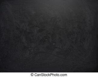 tiza, huellas, negro, tabla