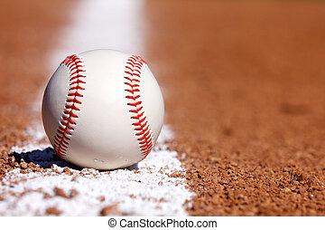 tiza, línea, beisball