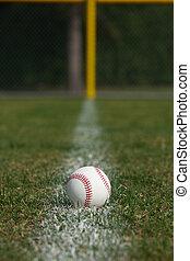 tiza, línea, pelota, beisball, asqueroso