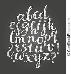 tiza, latín, font., escritura